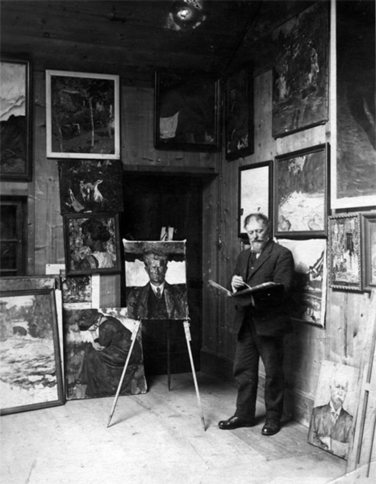 Le studio de Giovanni Giacometti, le père d'Alberto, image ©Fondation Giacometti