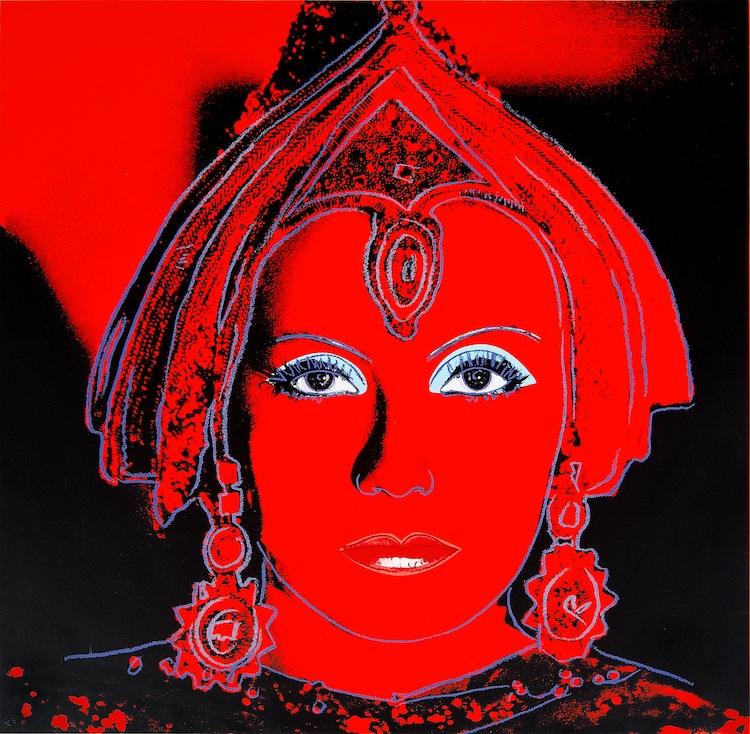 Färgserigrafi med diamond dust från 1981 är i mycket god kondition