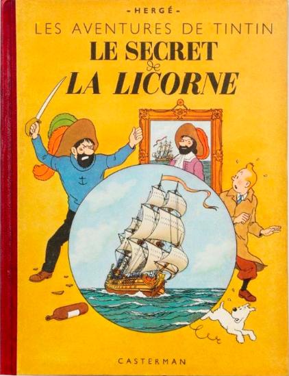 Le Secret de la Licorne, édition originale de 1943 Estimation: 4 000 / 5 000 € En vente chez Banque Dessinée