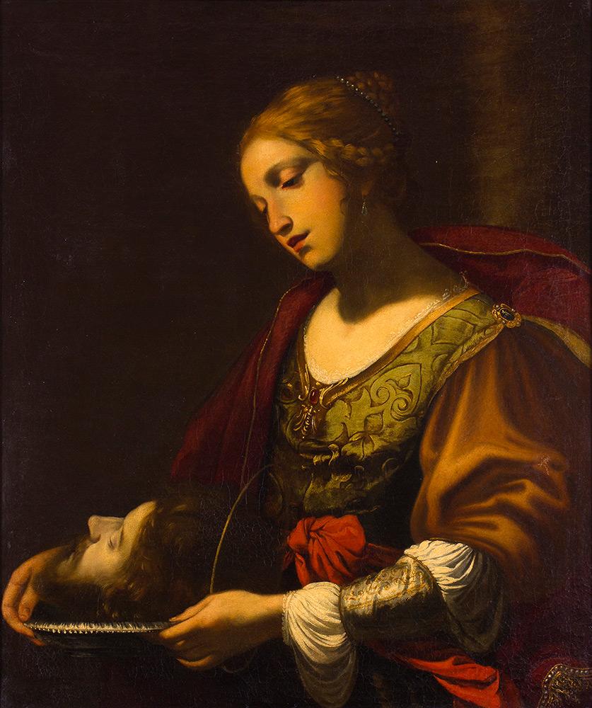 SIMON VOUET (Paris 1590-1649) zug. - Salome mit dem Haupt Johannes des Täufers, Öl/Lwd., 87,5x73,1 cm, 1620er Jahre Schätzpreis: 25.000-35.000 EUR