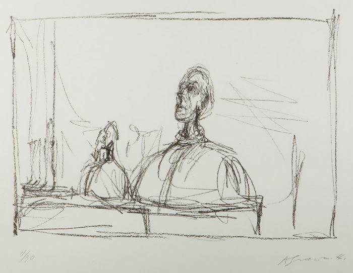 Skiss av Giacometti. Foto: Catawiki.