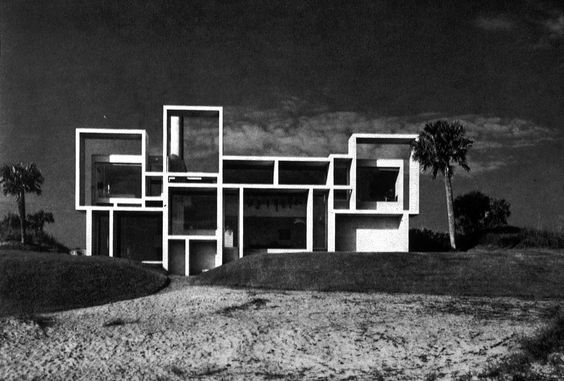 Paul Rudolphs Milam House in Jacksonville, Florida, 1960-62