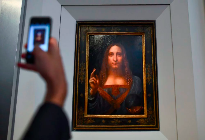 Leonardo da Vinci (1452-1519), Salvator Mundi, vers 1500, 65.7 x 45.7 cm Photo credit: JEWEL SAMAD/AFP/Getty Images