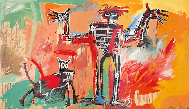 Boy and Dog in a Johnnypump, Jean-Michel Basquiat, 1982