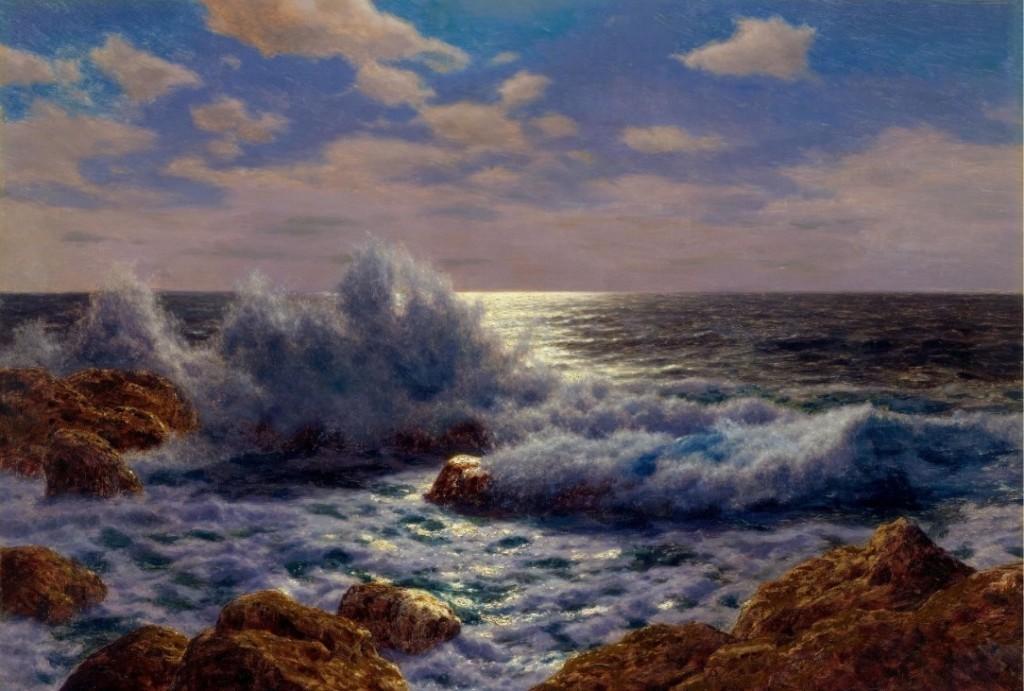 IVAN Fedorovich Choultse, Lever De Lune (Méditerranée), huile sur toile, 65 x 92 cm titrée et signée Estimation: 50,000-70,000 CHF (46300-64810 EUR)