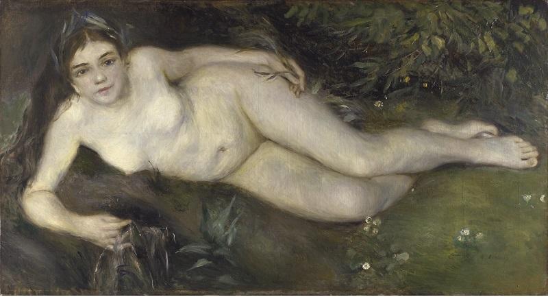 PIERRE-AUGUSTE RENOIR. Ninfa junto a un arroyo (1869-1870). © The National Gallery de Londres