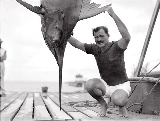 "A photograph of Ernest Hemingway from ""Hemingway: A Life in Pictures."" From Credit Ernest Hemingway Collection at the John F. Kennedy Presidential Library and Museum, Boston"