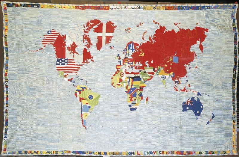 Alighiero Boetti, Mappe (1983) Foto: Artsy.net