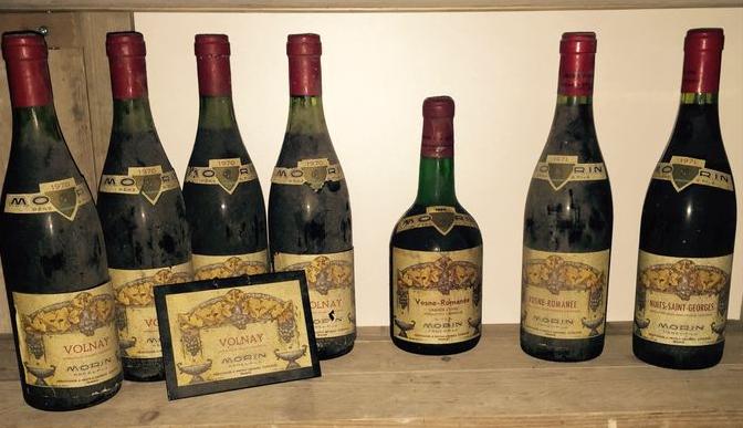 7 bouteilles 1x 1966 & 1x 1971 Vosne-Romanée, 1x 1971 Nuits-Saint-Georges & 4x 1970 Volnay, Morin Père et Fils - Catawiki Estimation basse: 800 €