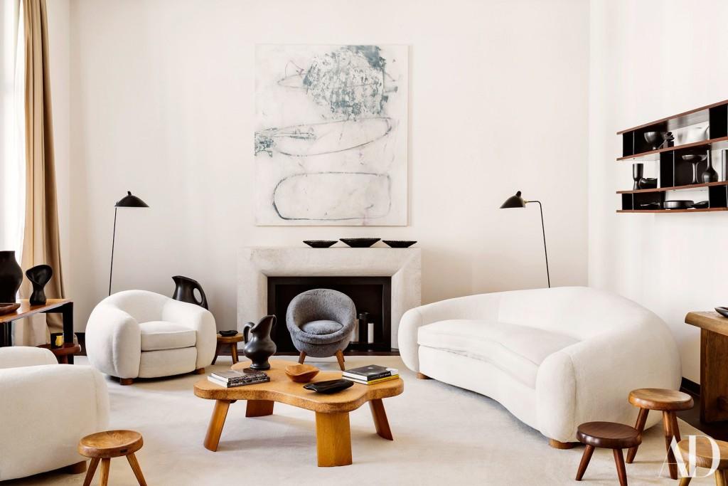 Joannas favoritsoffa, Jean Royéres Polar Bear Sofa. Foto: Architectural Digest.
