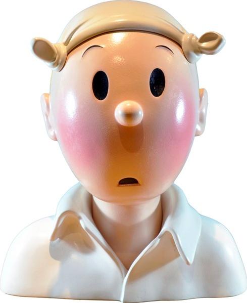 Hergé, Buste 'Tintin au mouchoir' JM Pigeon BD Enchères