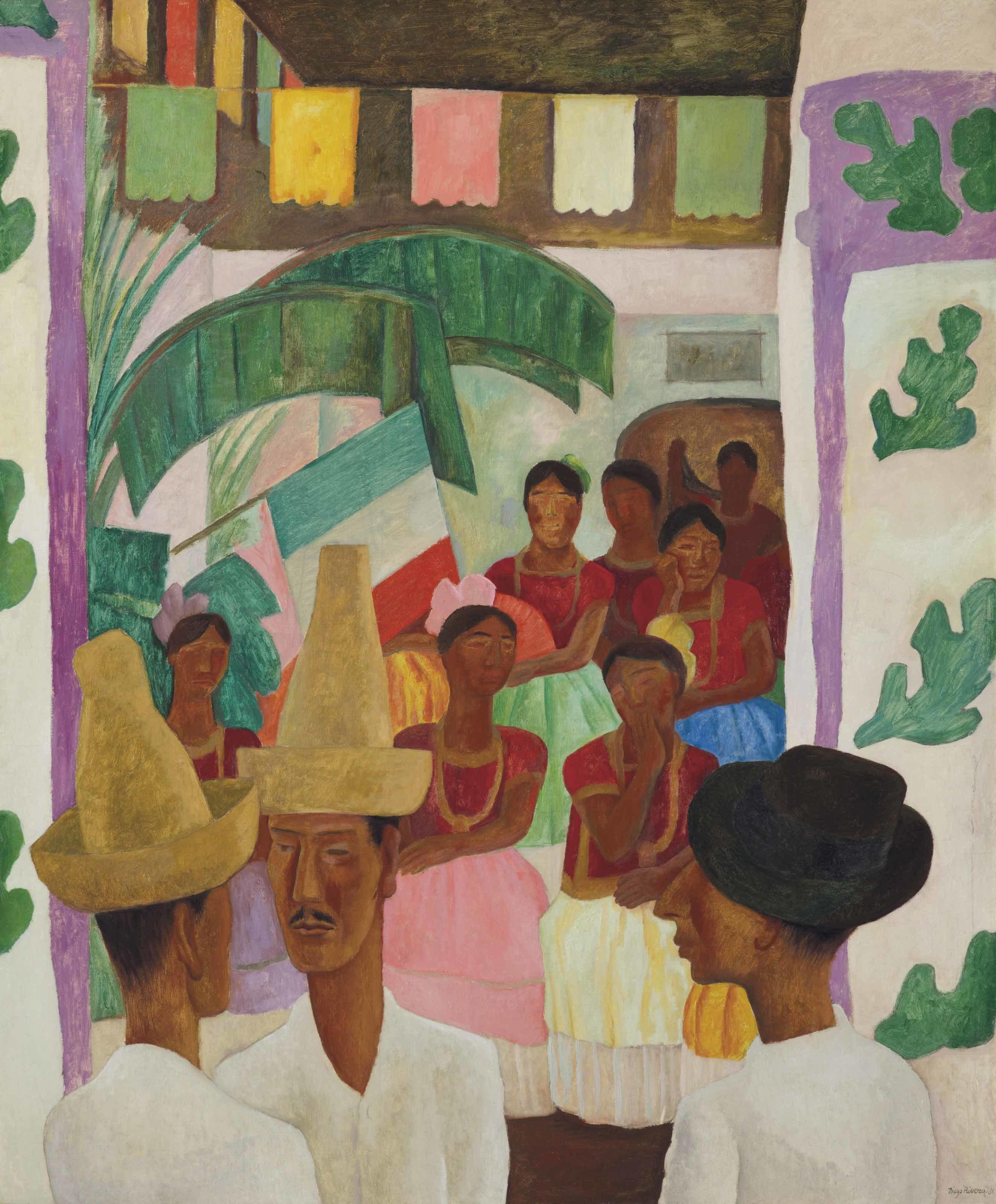 Christie's a annoncé que « The Rivals » de Diego Rivera sera l'un des lots clés de la vente « Art of the Americas », avec une estimation survolant les 5 à 7 millions de dollars. Image ©Christie's