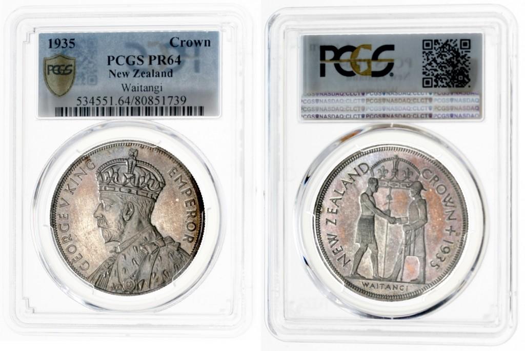 Neuseeland (Britisch) - Komplettes Silbermünzset incl. Waitangi-Crown 1935 Schätzpreis: 10.000 EUR