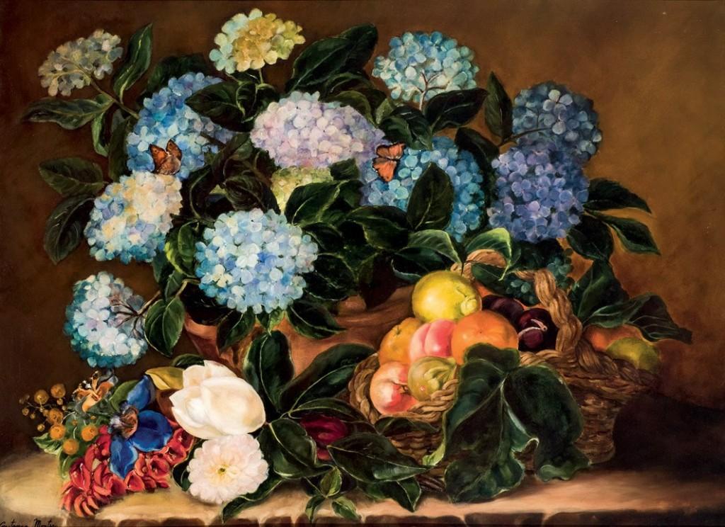 CONSTANZA MONTERO - Bodegón de flores, Öl/Lwd., signiert