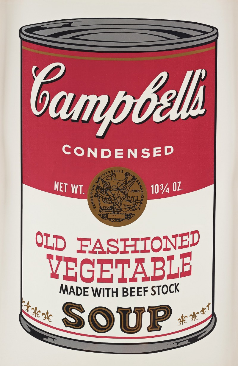 """Andy Warhol, """"CAMPBELL'S SOUP II OLD FASHIONED VEGETABLE""""."""