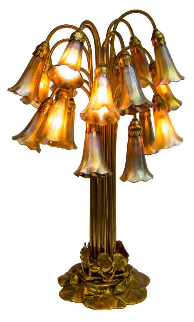 Tiffany Studios Dore Bronze Lily Lamp, from Austin Auction Gallery