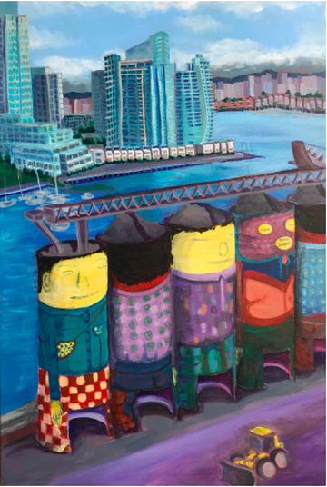 A painting by Joy Pierson. Image: Art Vancouver