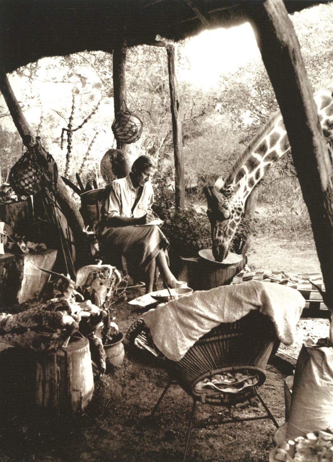 Peter Beard auf seiner Hog Ranch in Kenia Foto via ironcrowvintage.com
