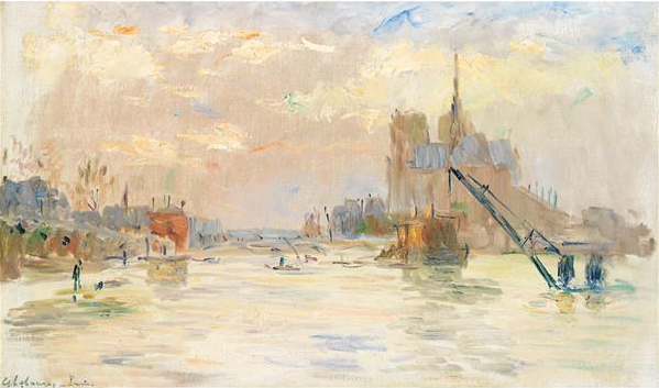 Albert Lebourg (1849-1928) Les inondations à Paris Tajan