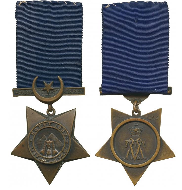 Khedive's Star to J Higgins, Scots Guards Baldwin's
