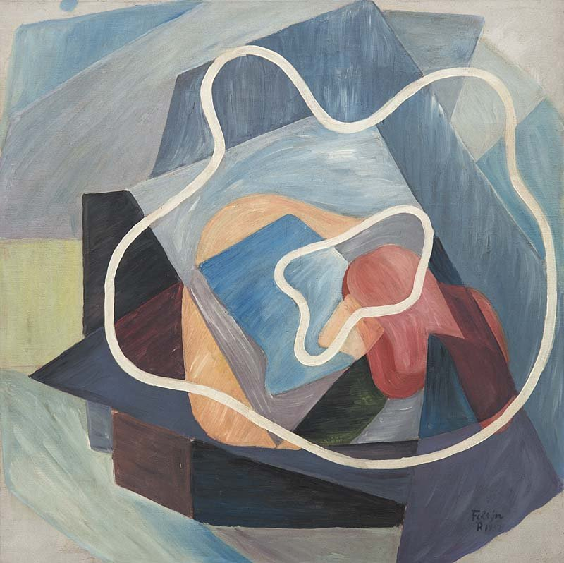 FRANTISEK FOLTYN - Abstrakte Komposition, Öl/Lwd., 63,4 x 63 cm, signiert und datiert, 1932 Schätzpreis: 9.000-18.000 EUR