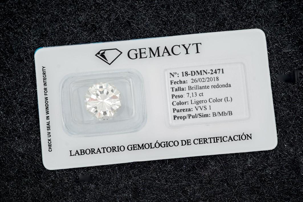 7.13ct diamond