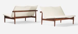 Deux canapés par Finn Juhl, 1950 Wright Estimation basse: 5 000$