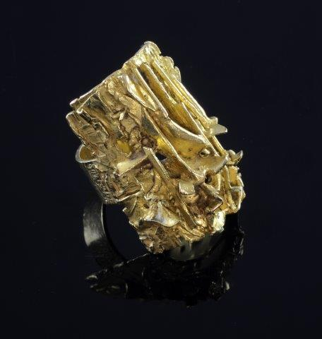 gold abstract ring