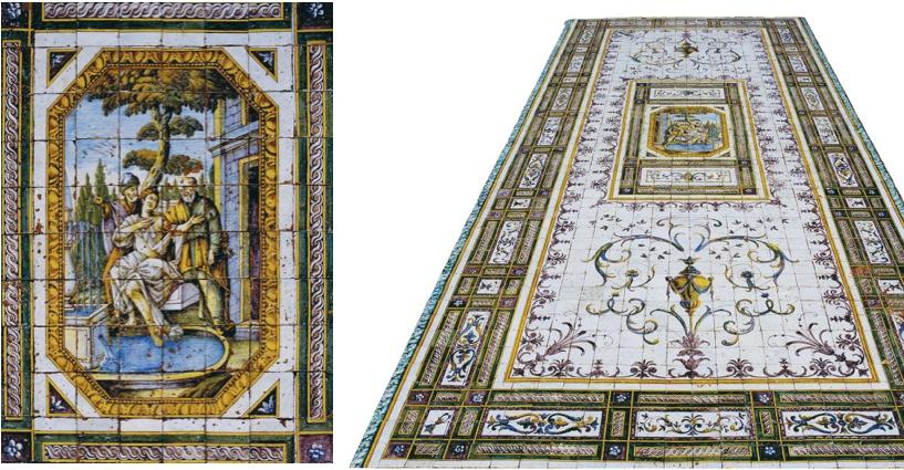 Bodenmosaik eines Brunnens, zentrales Motiv von BERARDINO GENTILI, Neapel 18. Jh. Schätzpreis: 250.000-300.000 EUR
