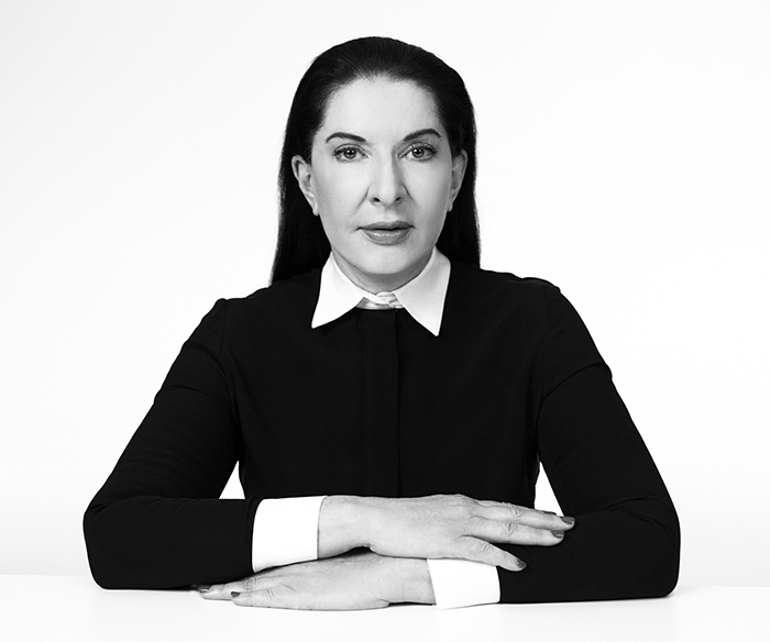 Marina Abramović, photo via Acute Art