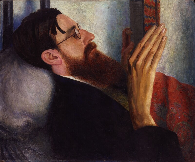 Lytton Strachey av Dora Carrington. Bild: National Portrait Gallery