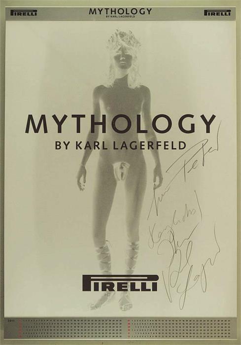 Signierter Pirelli-Kalender von Karl Lagerfeld Startpreis: 100 EUR