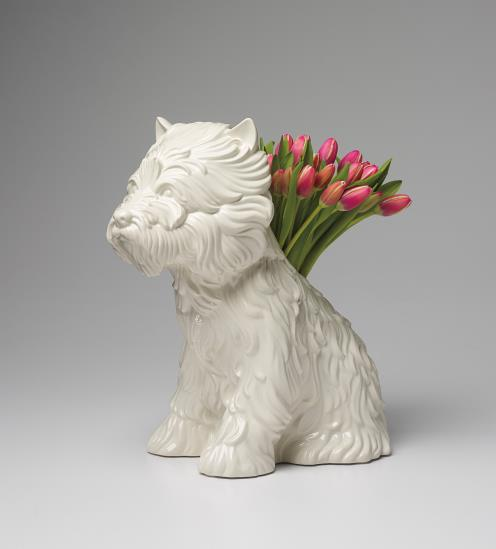JEFF KOONS, Puppy Vase, 1998. Low estimate: 6 100 USD. Phillips.