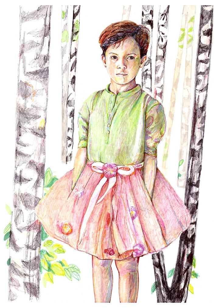"Mia Fernau ""Kids 04"", 64x46 cm, 1500 SEK."