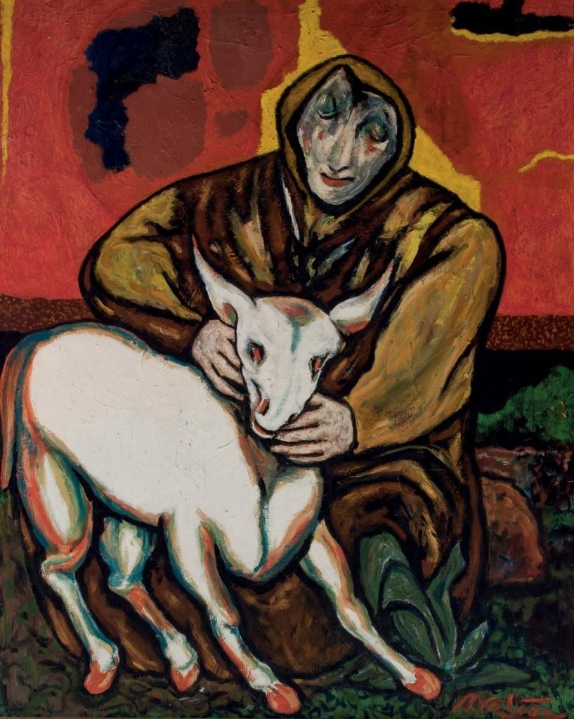 Francisco Mateos (1897 – 1976) La tormenta Huile sur toile