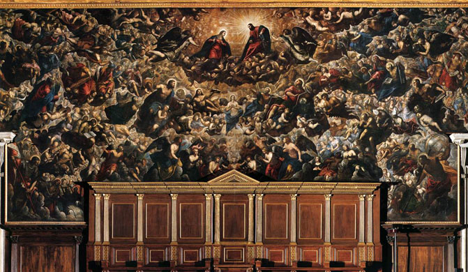 Il Paradiso by Tintoretto and his studio, 1588. Image: Wikipedia