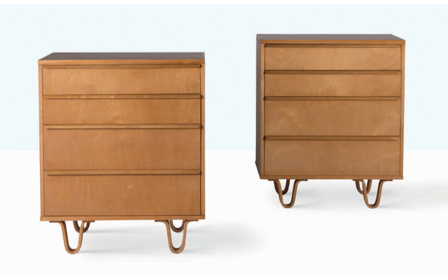 Cees Braakman, Pair of Chest of Drawers, Birch. Photo: Aguttes