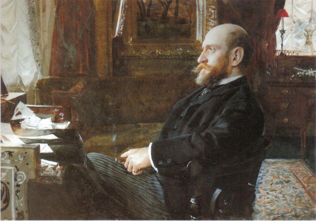 Portrait de l'homme d'affaires Ernest Cassel de 1886, image via Wiki Commons