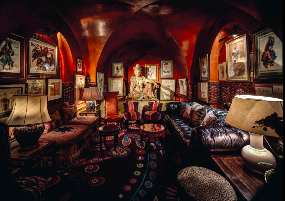 The Buddha Room at Annabel's, featuring the legendary bodhisattva. Photo: Christian Voigt via Christie's