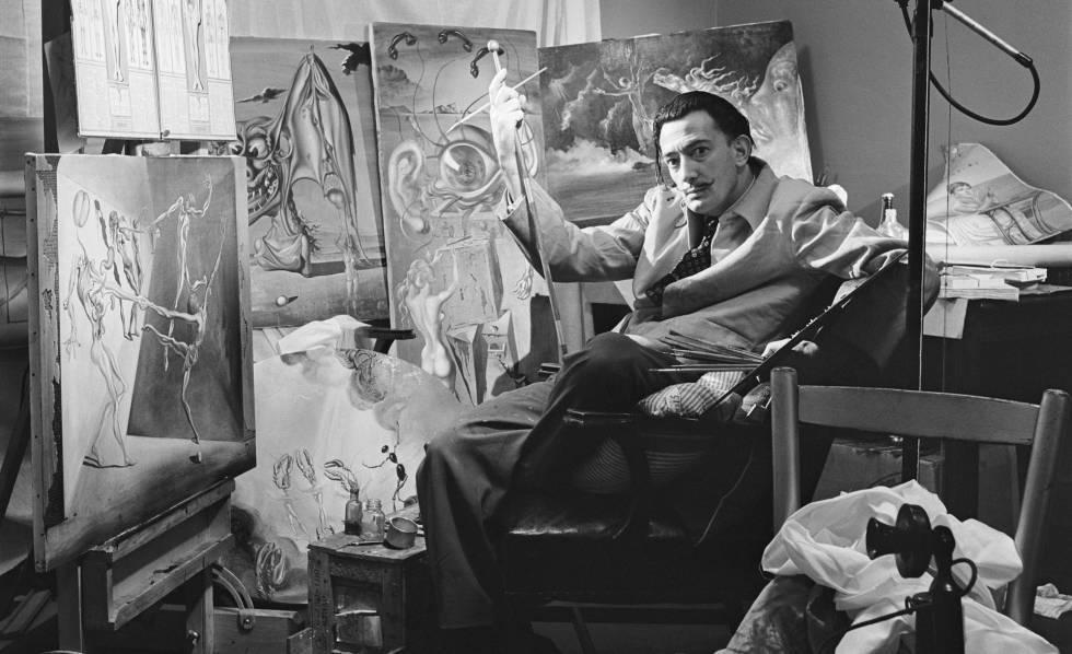 Salvador Dali in seinem Atelier   Foto: El Pais