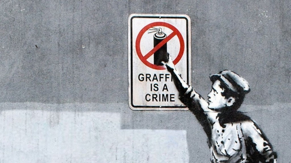 Bansky, Graffiti is a Crime | Foto: domain.com