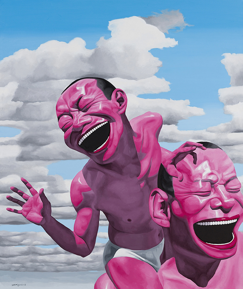 "Yue Minjun, ""Blue Sky and White Clouds No.2"", 2013. Foto: Art Museum of Nanjing University of the Arts."