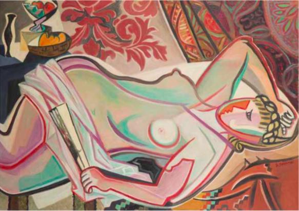 Gino Severini (1883-1966), « Nu à l'éventail », 1947, ©Julien Pepy