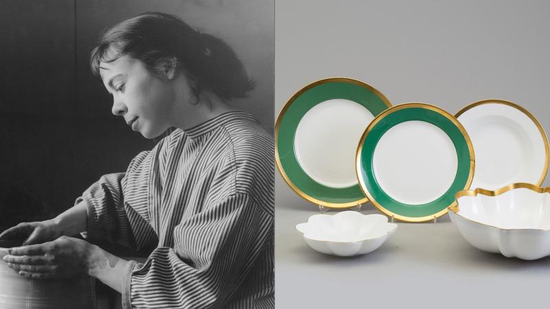 Vänster: Karin Björquist. Foto: Mynewsdesk. Höger: Delar ut Nobelservisen. Foto: Bukowskis.