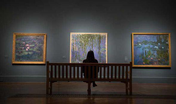 """Vue de l'exposition """"Painting the modern garden"""" à la Royal Academy de Londres en 2016 Image: BENNETT pour Express.co.uk"""