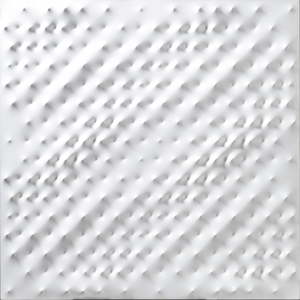 ENRICO CASTELLANI, acrylique, 100x100 cm, intitulé, signé et daté 1987 Estimation: 250,000-350,000 EUR