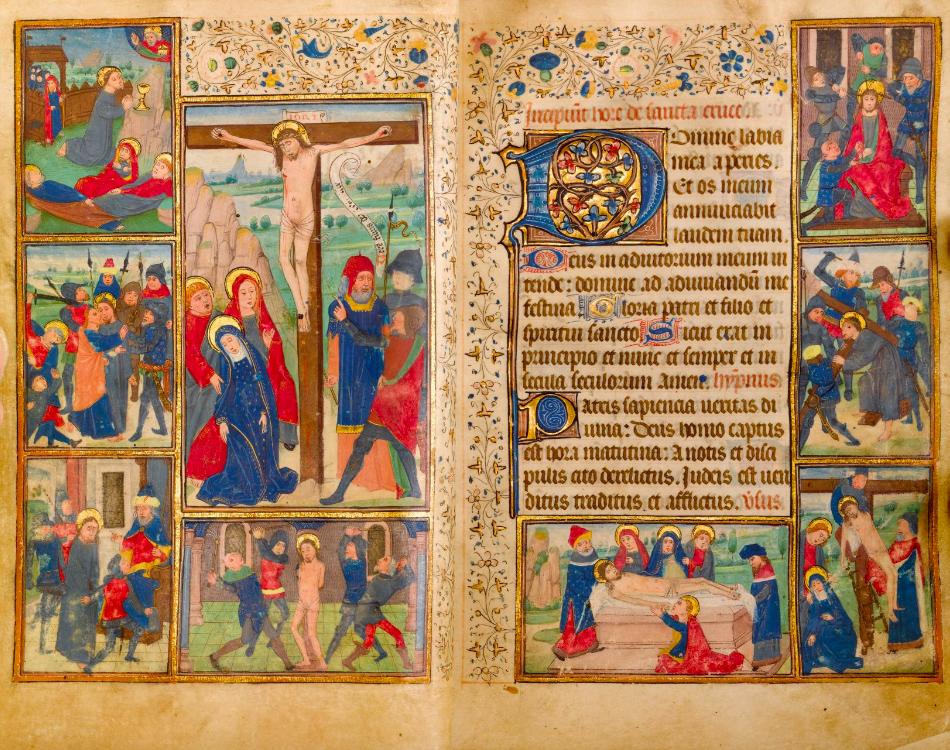 Libro de las Horas, manuscrito latino en pergamino. Flandes (c. 1460). Imagen vía: Koller