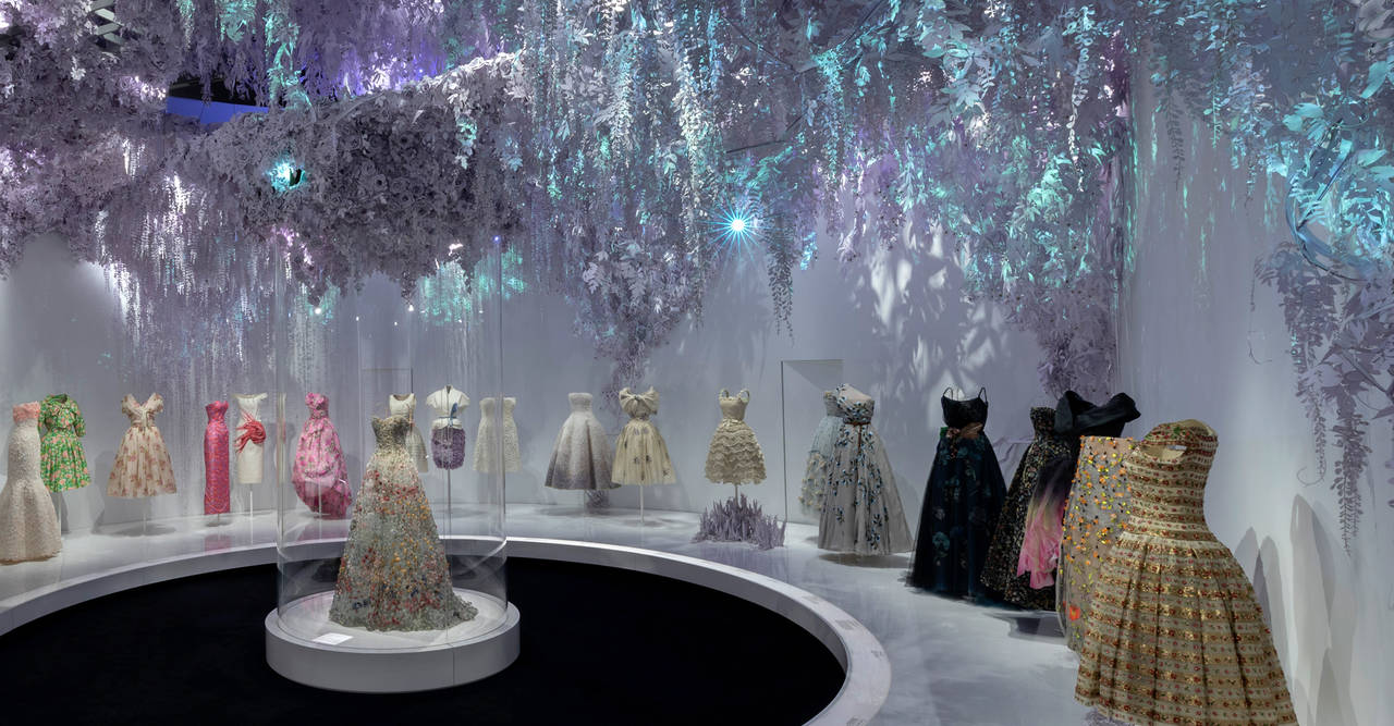 The Dior exhibit at the V&A. Image: Victoria & Albert Museum