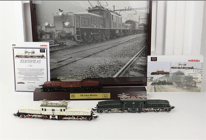"""MÄRKLIN - Lokomotiven-Set, Krokodil-Packung """"150 Jahre Märklin"""""""