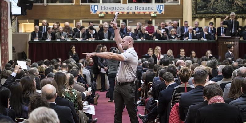 Hospices de Beaune 2015 hos Christie's. Foto: Jean-Philippe Ksiazek för AFP